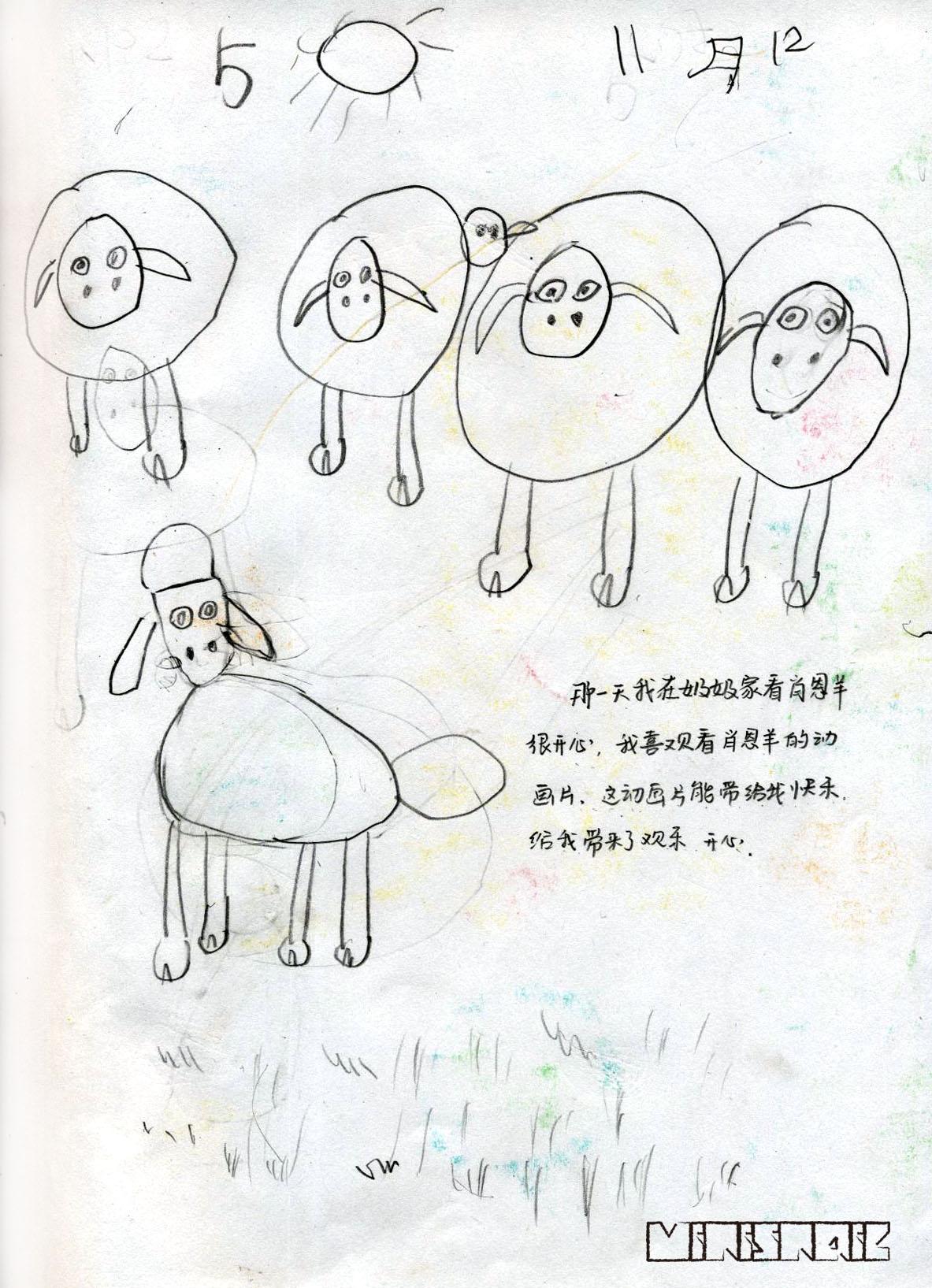 卡通小羊肖恩简笔画内容图片展示_卡通小羊肖恩简笔画图片下载
