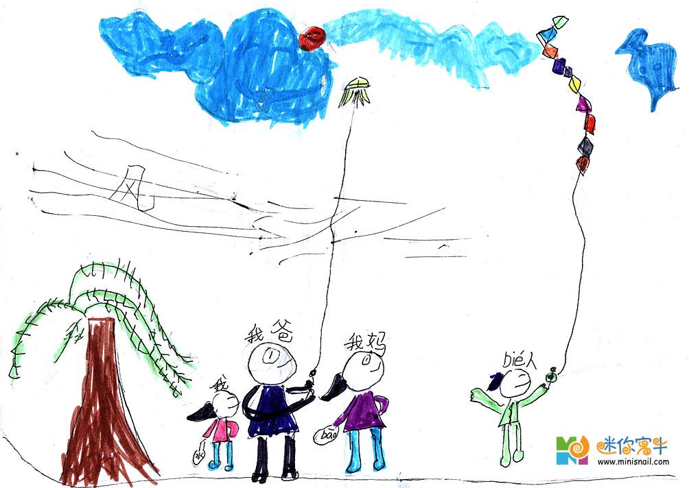 星期六,晴,今天,爸爸休息,萌萌上午上钢琴课,中午在姥姥家吃过饭,下午回到家里做了作业,始终萌萌嚷嚷着要放风筝,于是,我们临时决定做风筝,若时间允许的话,呵呵!就去洛浦公园放风筝做风筝的材料是上次做灯笼留下的竹缗儿,还有就是超市里的食品袋子,以及线和透明胶。用这做风筝是再好不过了。每人做一个,说干就干哦!作为妈妈的我比较苯,首先想到的就是十字型的架子那种的风筝,做起来很快哦!作为爸爸可就要别出花样了,现在电脑里搜寻半天,最后决定自己构思哦!萌萌嘛!还是小,不知道做什么样子的,搞了半天还是求助我,于是作了个